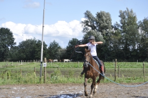 First time horseback archery for 26 yr old Kwibes!